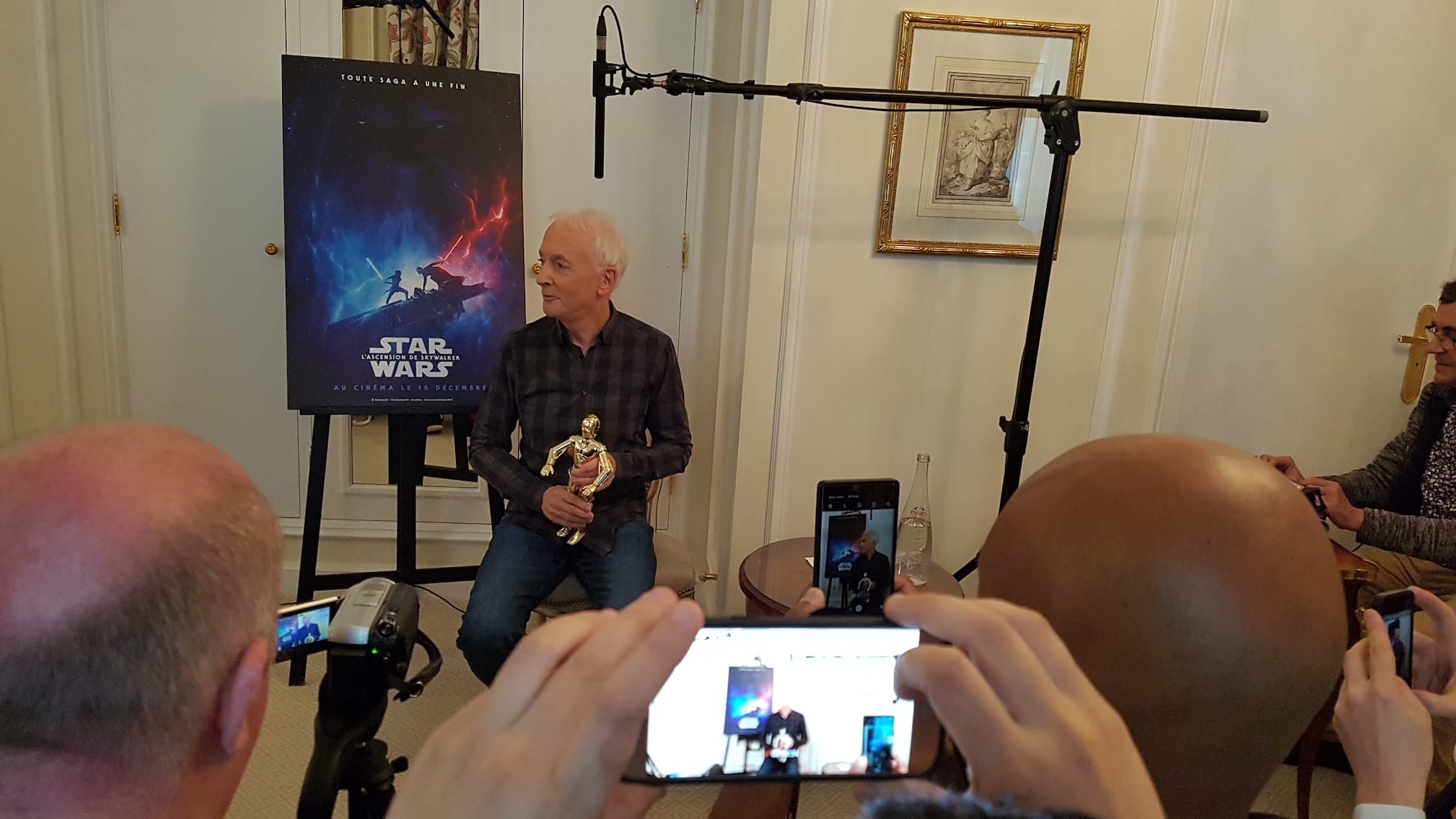 "Anthony Daniels alias C-3PO dans ""Star Wars"""