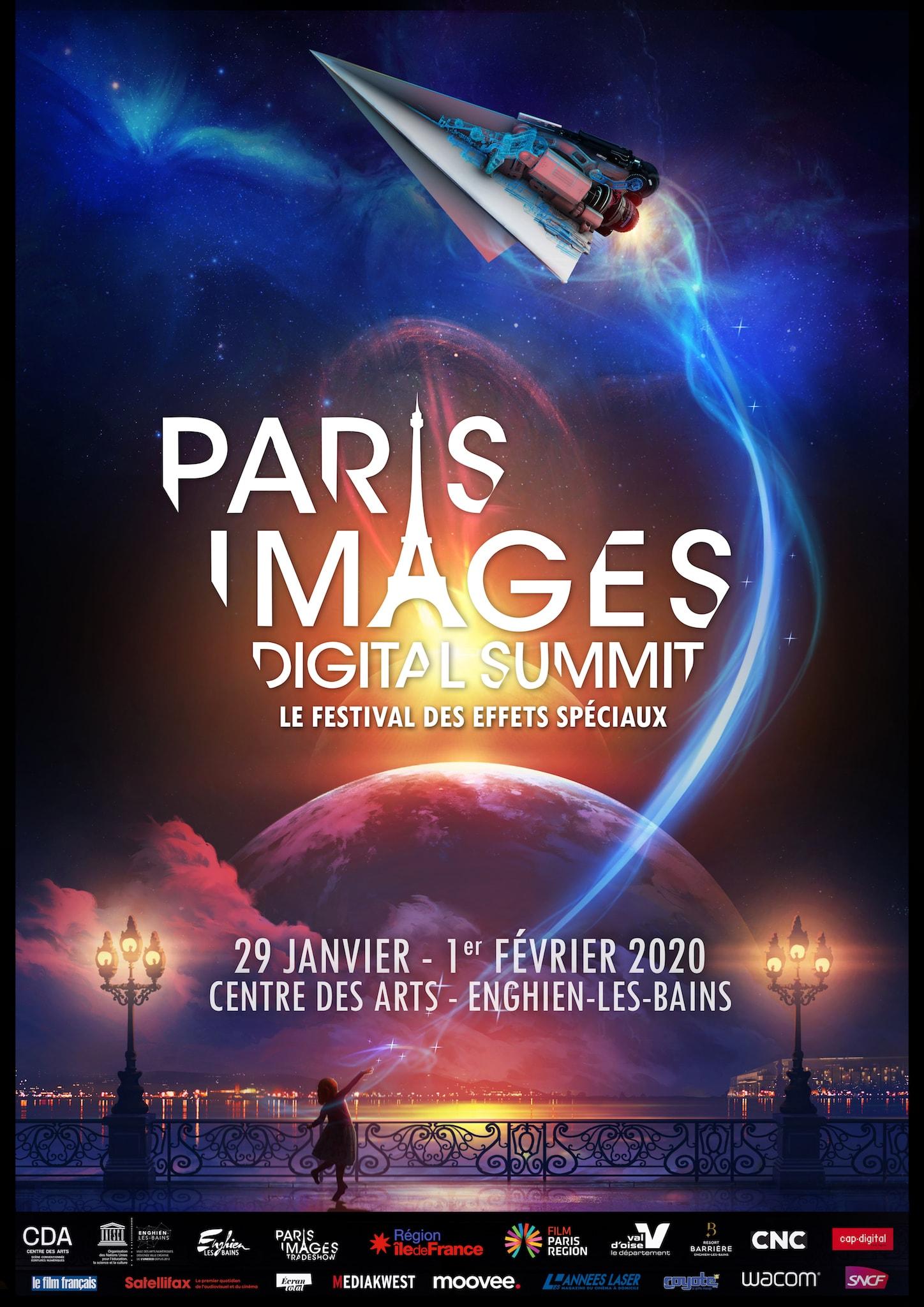 Paris Images Digital Summit 2020 affiche festival des effets spéciaux