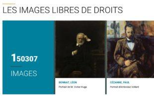 site internet de Paris Musées - Open Content - images libres de droits
