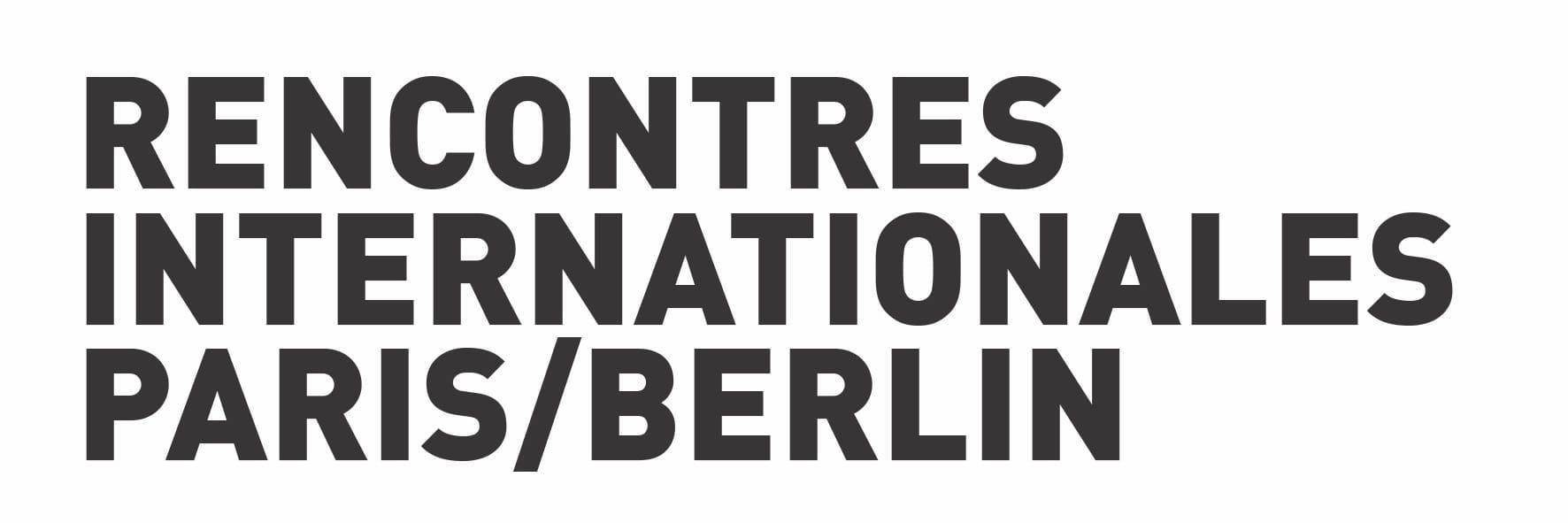 Rencontres Internationales Paris/Berlin image logo nouveau cinéma art contemporain