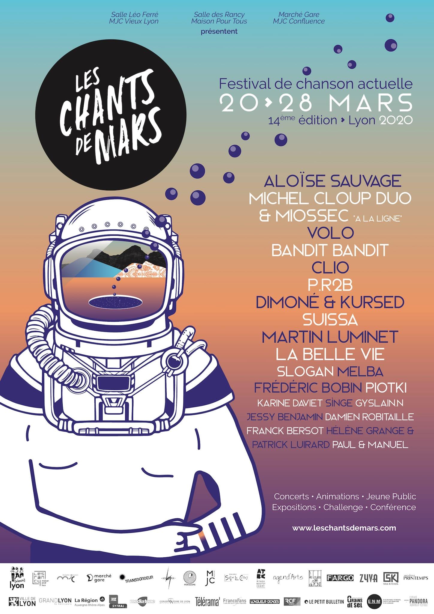 Festival Les Chants de Mars 2020 affiche musique