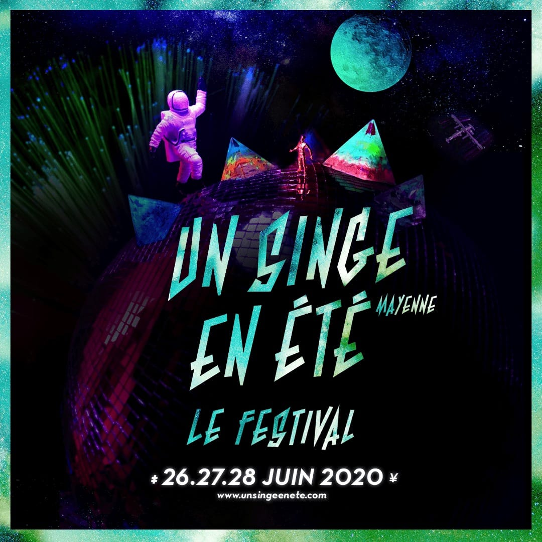 Festival Un Singe En Été 2020 affiche spectacles musique