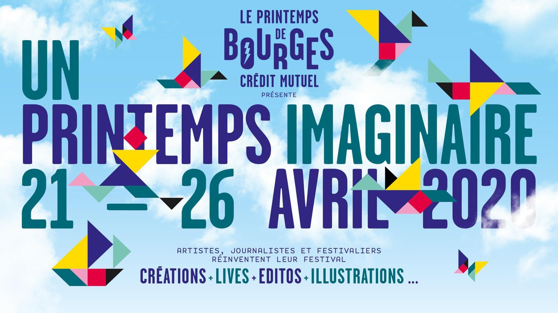 Le Printemps de Bourges présente Un Printemps Imaginaire affiche festival musique