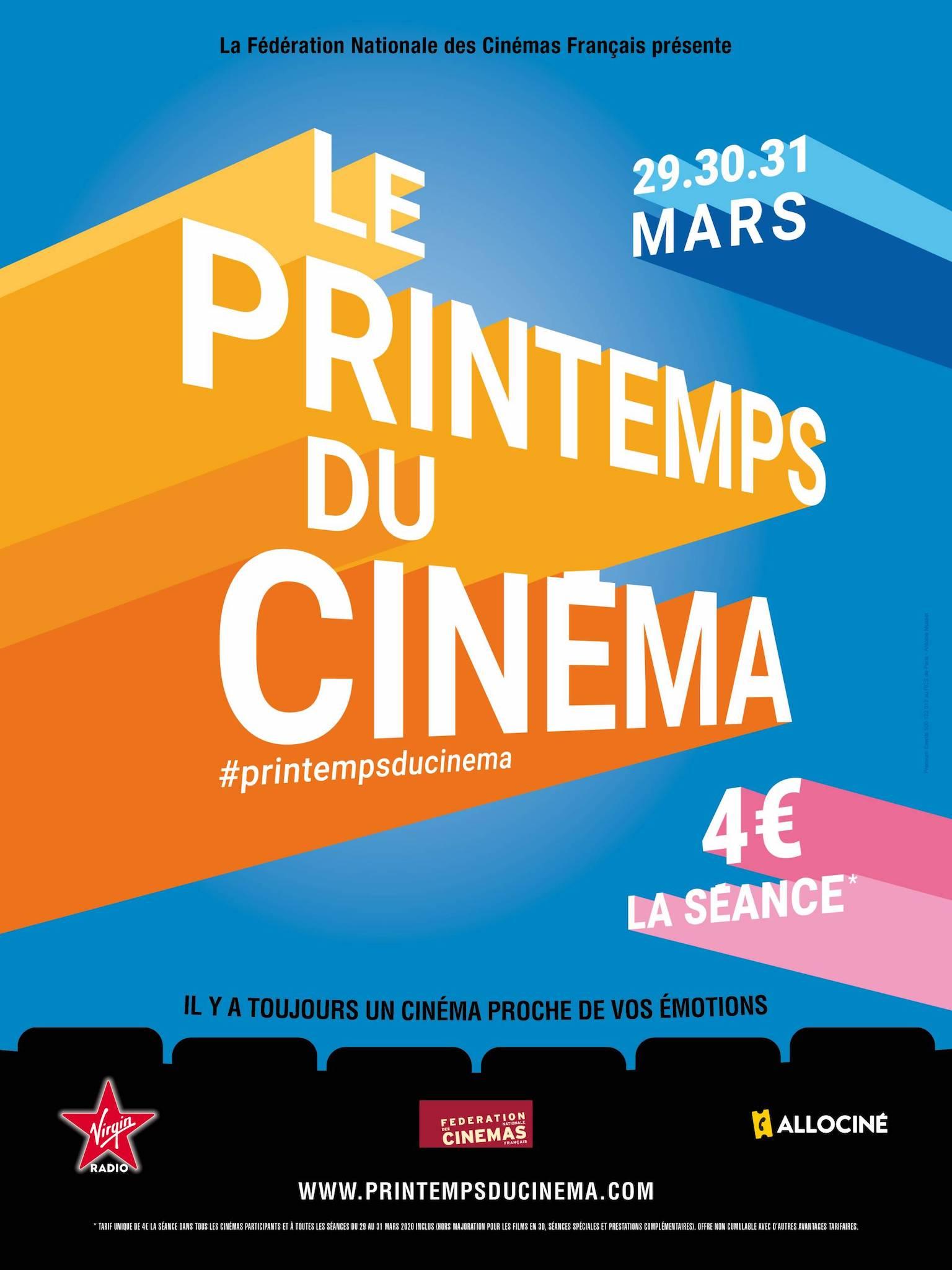 Le Printemps du Cinéma 2020 affiche fête du cinéma