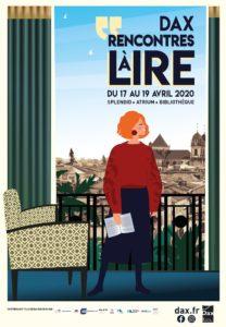 Les Rencontres à Lire - Dax 2020 affiche salon du livre