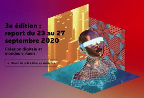 Capture d'écran NewImages Festival 2020 créations numériques et monde virtuel