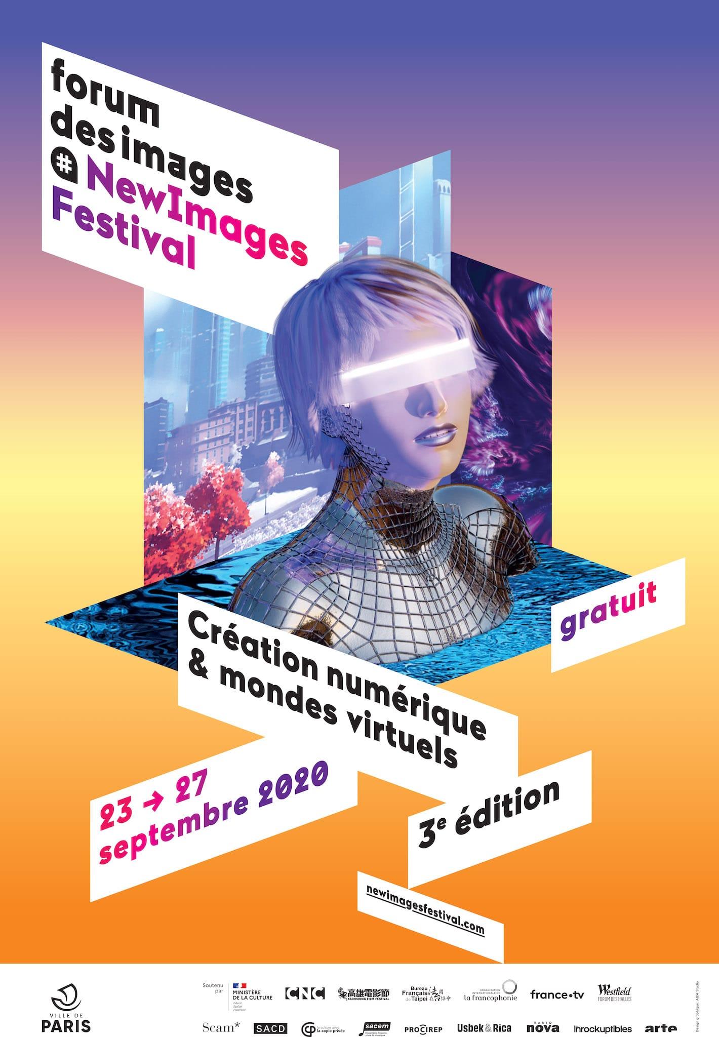 NewImages 2020 affiche créations numériques et monde virtuel