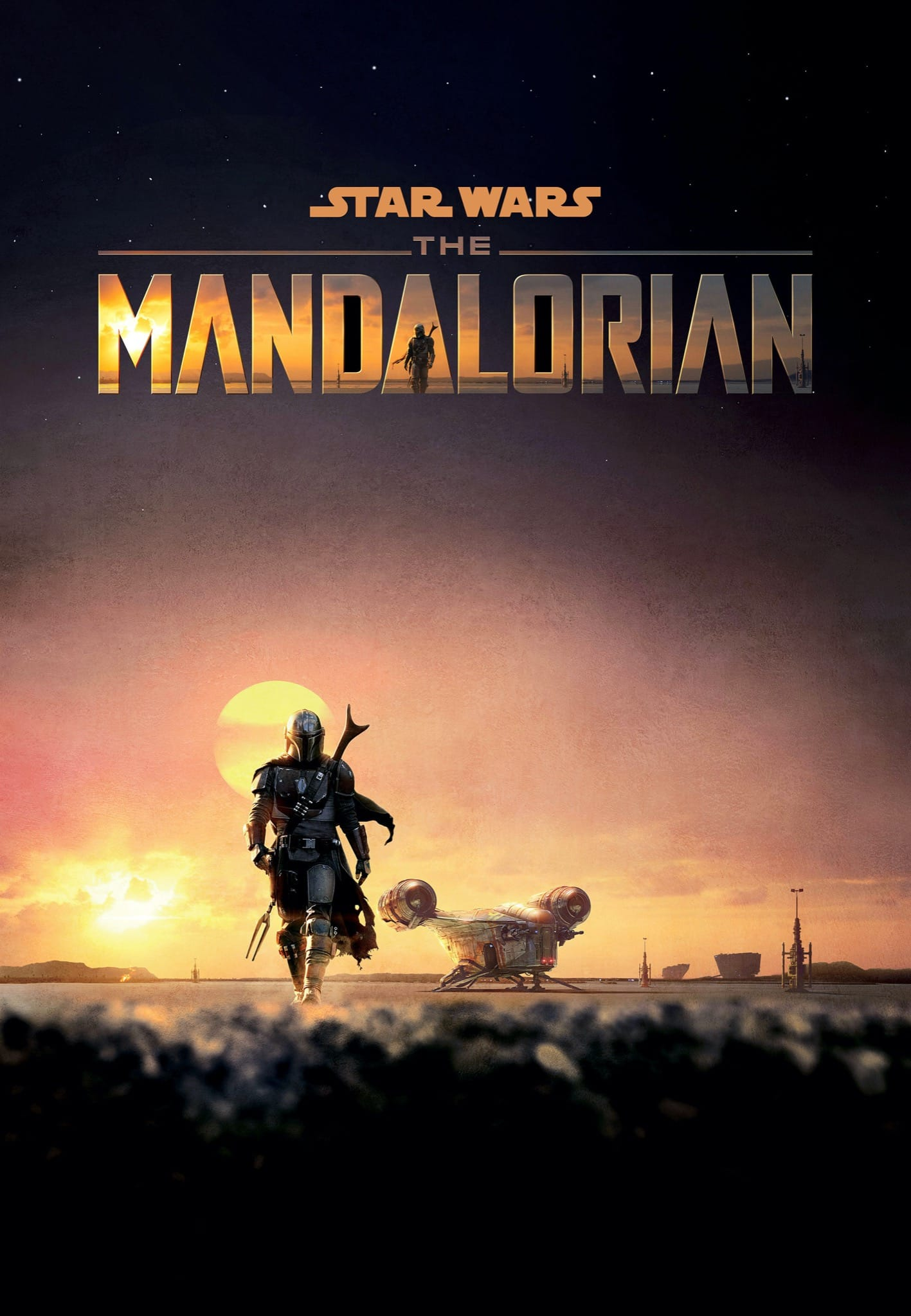 The Mandalorian saison 1 affiche série Star Wars