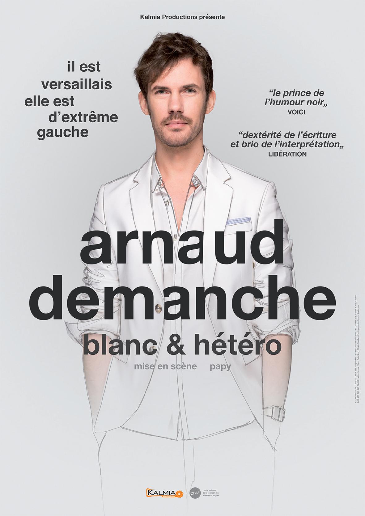 2020 Demanche Affiche Tournée Arnaud Demanche