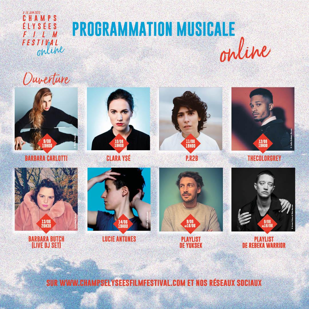 Champs-Elysées Film Festival 2020 programmation musicale