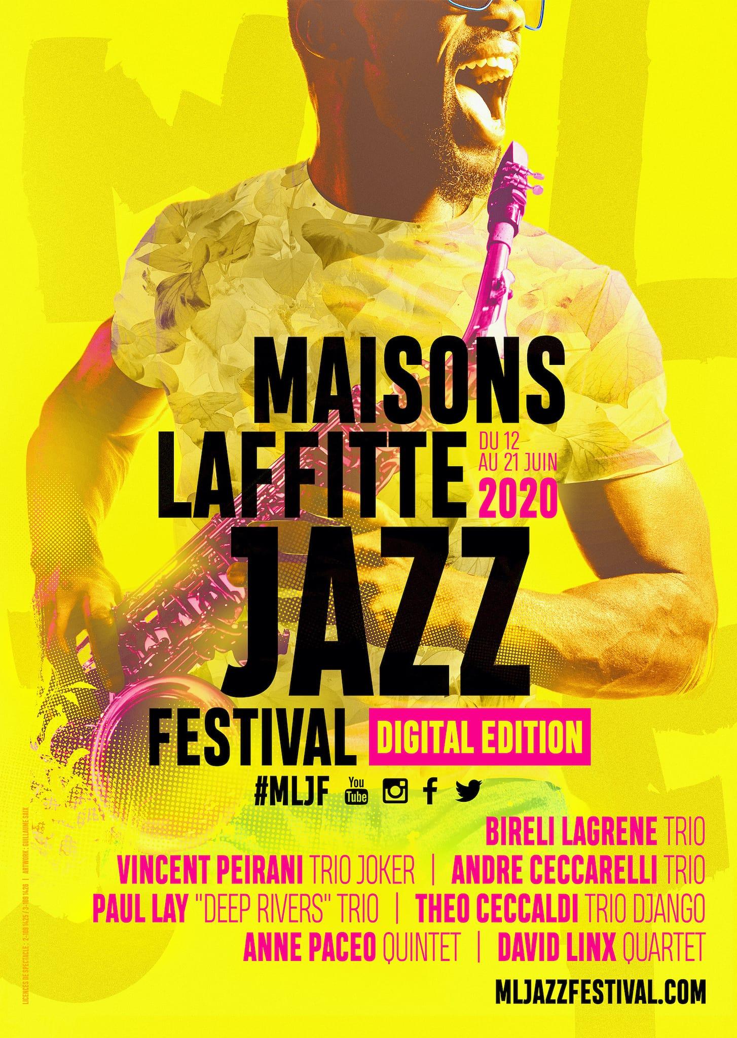 Maisons-Laffitte Jazz Festival 2020 #Digital Edition affiche festival de musique