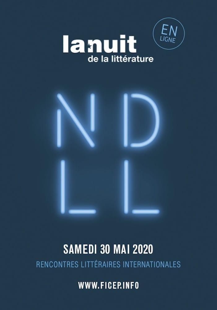 Nuit de la littérature 2020 affiche manifestation littéraire