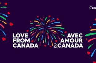 Avec Amour du Canada - la Fête du Canada 2020 en ligne visuel