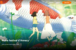 Capture d'écran Festival d'Annecy sur OCS animation