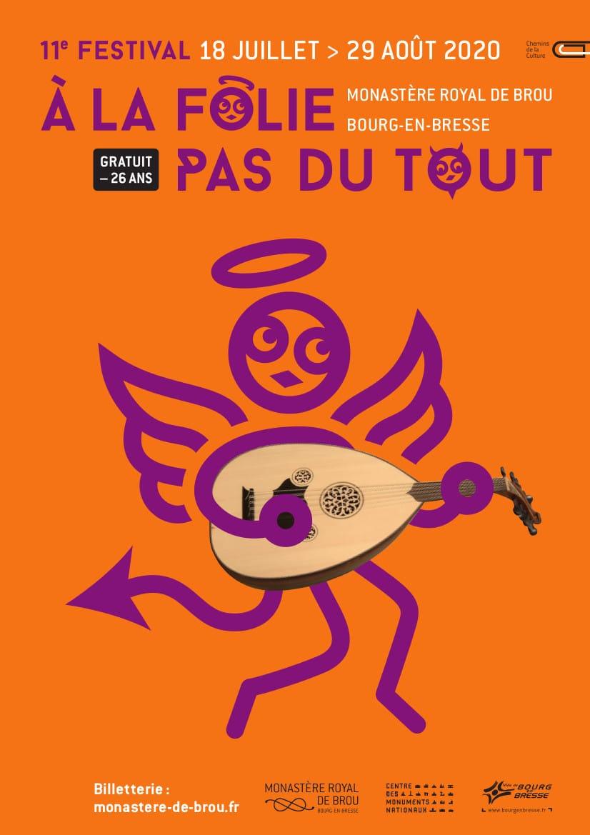 Festival À la folie... pas du tout 2020 affiche musique