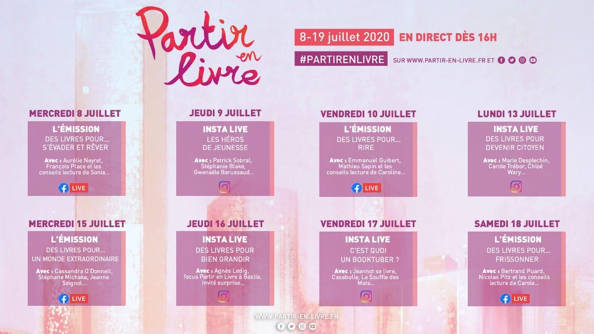 #PartirEnLivre - l'édition digitale de Partir en Livre 2020 visuel programme