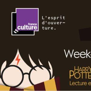 Week-end magique sur France Culture - Harry Potter à l'école des sorciers affiche livre audio radio