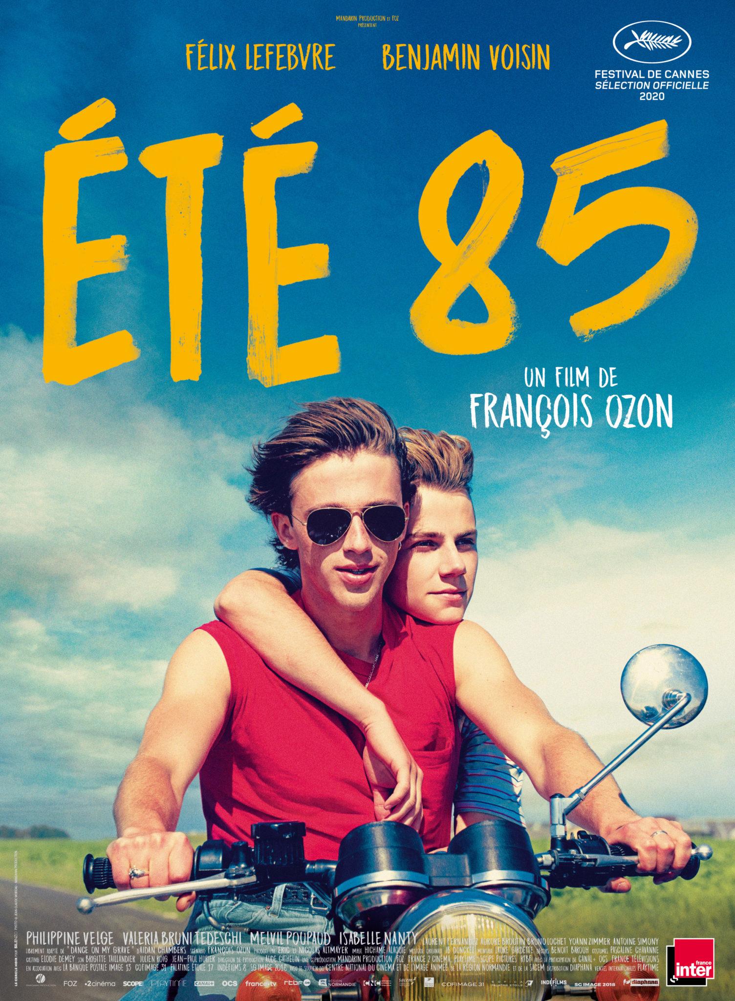 Été 85 film 2020 affiche Ozon