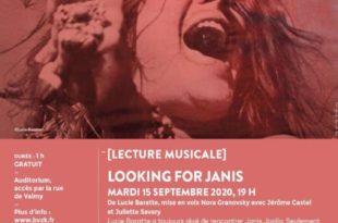 Lecture musicale Looking for Janis au Palais des Beaux Arts de Lille affiche