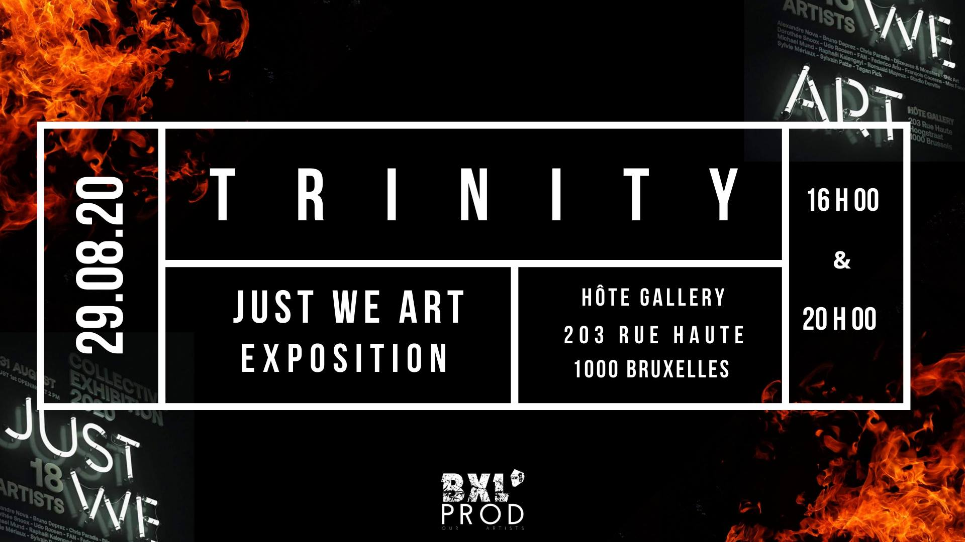 The Trinity SHOW at JUST WE ART Exposition affiche