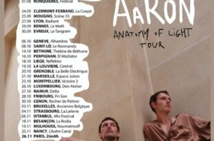 Aaron nouvelles dates de tournée Anatomy of Light en 2020 image