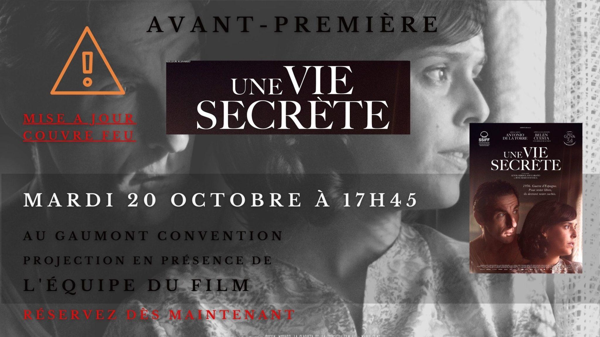 avant-PREMIÈRE exceptionnelle - une vie secrète en présence de l'équipe du film mardi 20 octobre à 20h00 au gaumont convention (1)