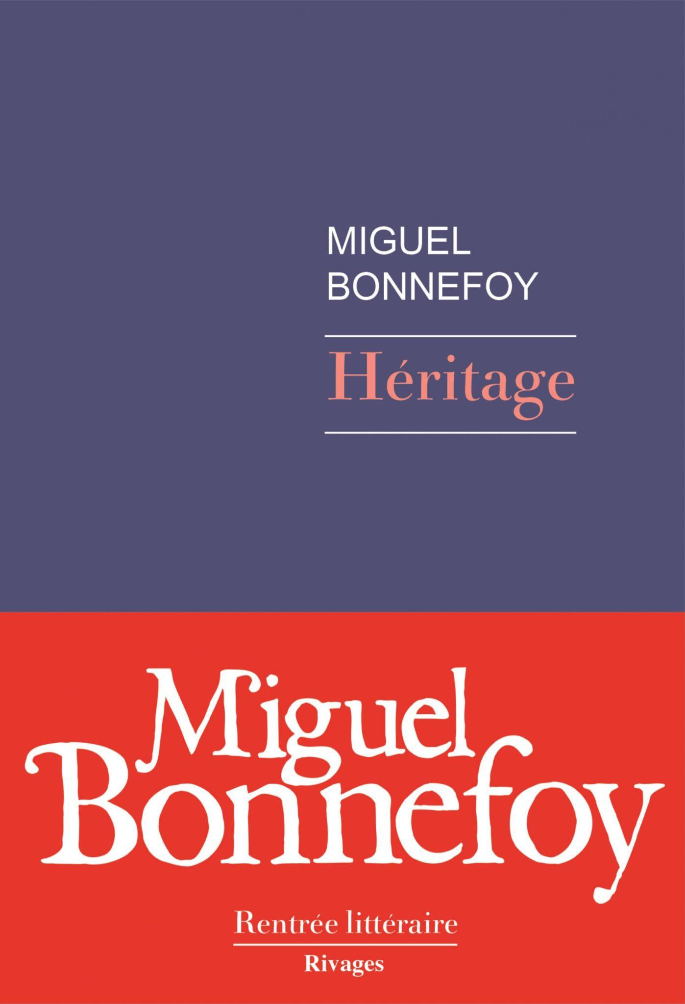 Héritage Miguel Bonnefoy couverture