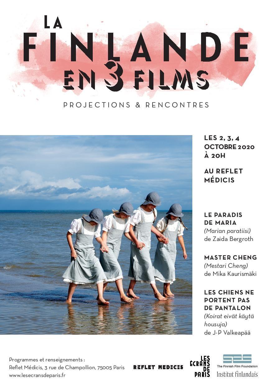 La Finlande en 3 Films 2020 affiche octobre festival cinéma