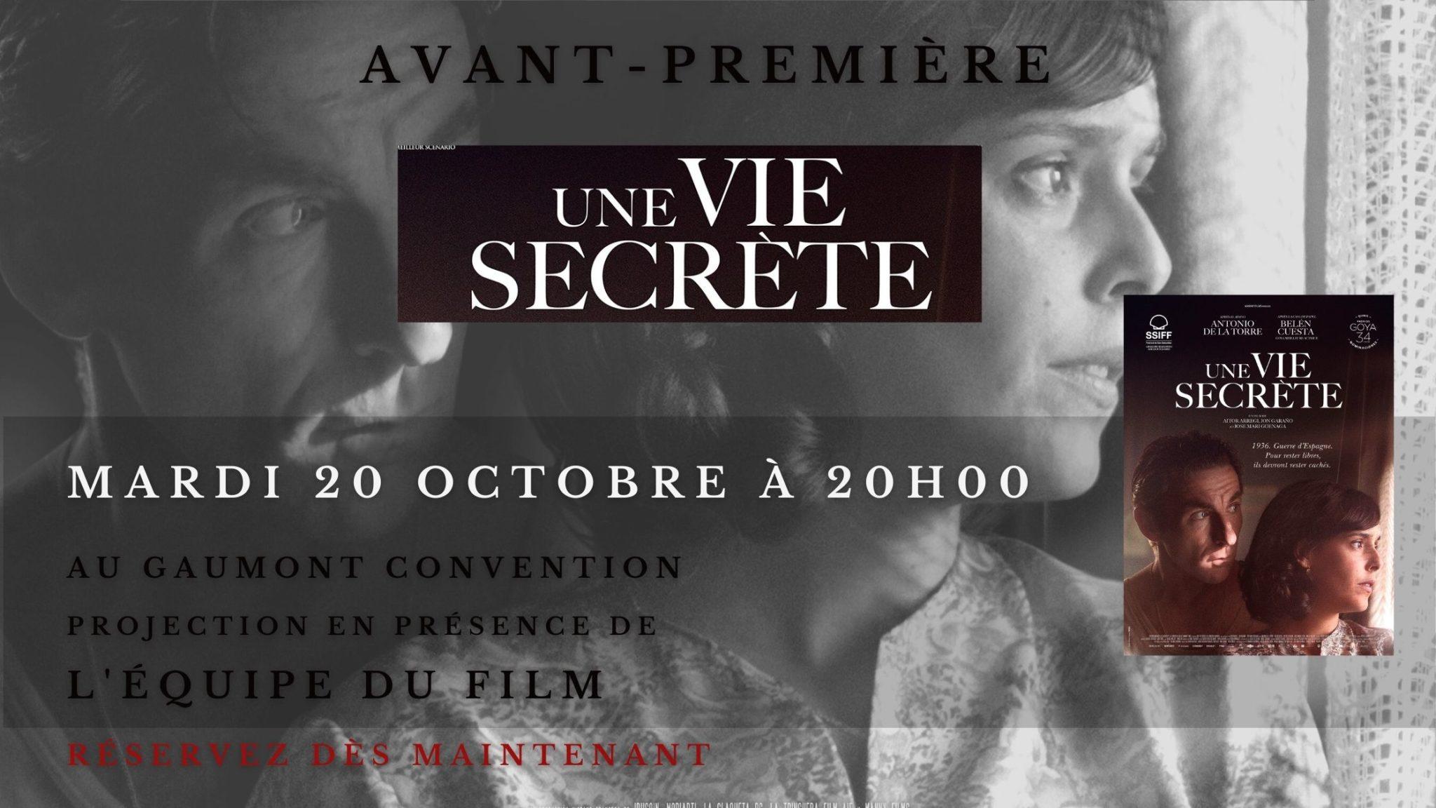 Concours / Gagnez des places pour l'avant-première « Une vie secrète » au Gaumont Convention 7 image