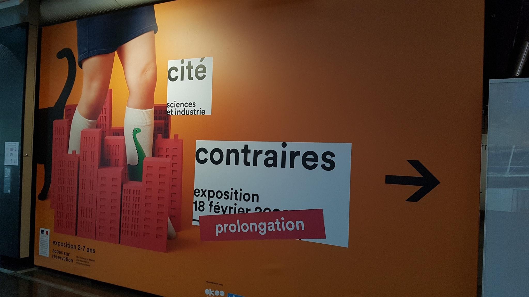 Exposition Contraires à la Cité des sciences et de l'industrie photo affiche