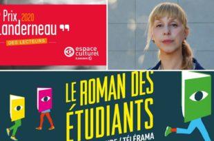 Prix Landerneau des Lecteurs et Prix du Roman des étudiants 2020 pour Chavirer de Lola Lafon visuel littérature