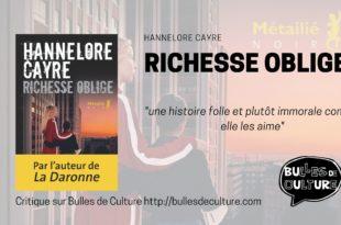richesse oblige critique avis livre Hannelore CAyre