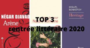 Top 3 des meilleurs livres de la rentrée littéraire 2020