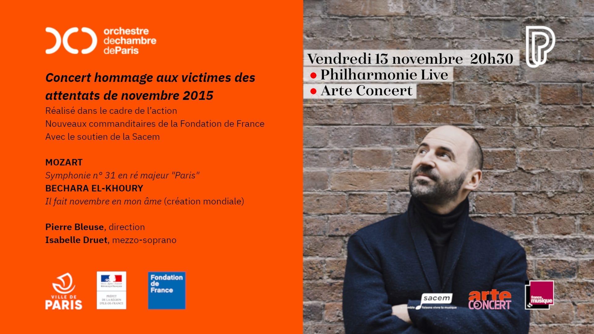 Concert hommage aux victimes des attentats de novembre 2015 musique