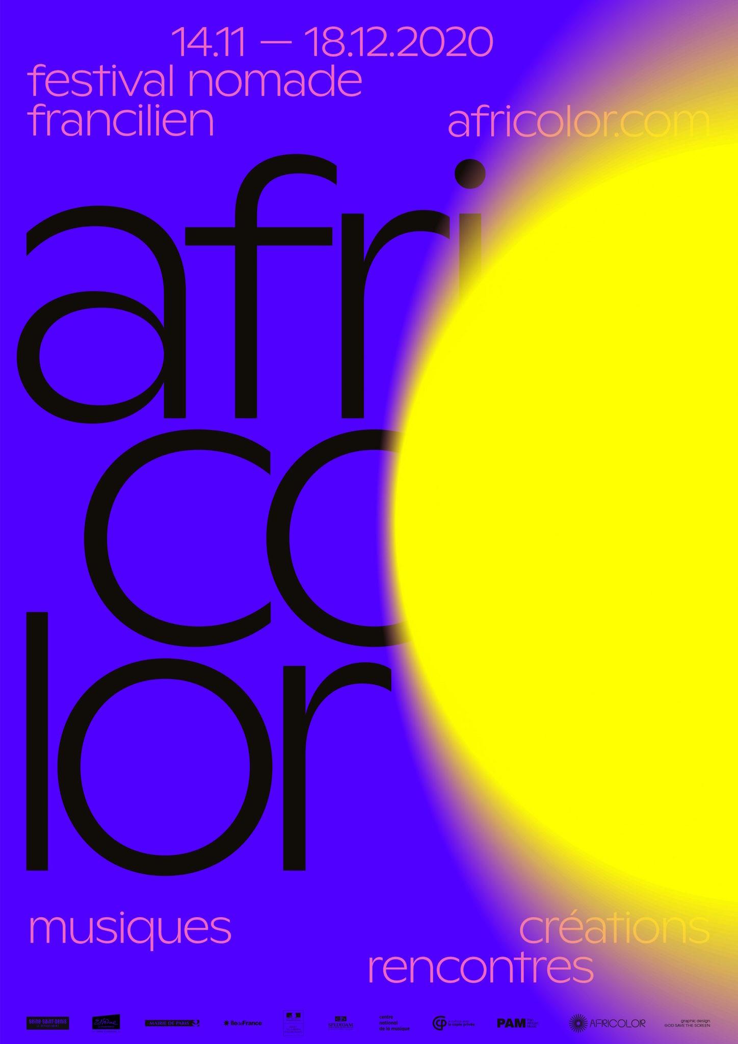Festival Africolor 2020 affiche musique
