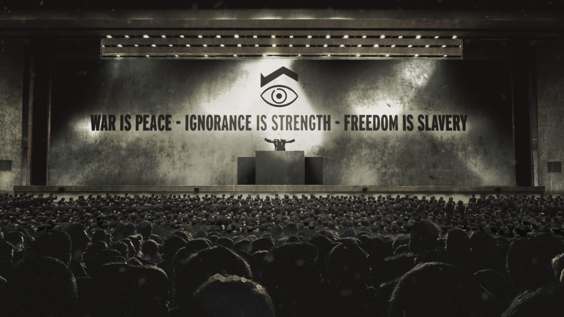 """George Orwell, Aldous Huxley : """"1984"""" ou """"Le meilleur des mondes"""" ? de Philippe Calderon et Caroline Benarrosh photo documentaire"""