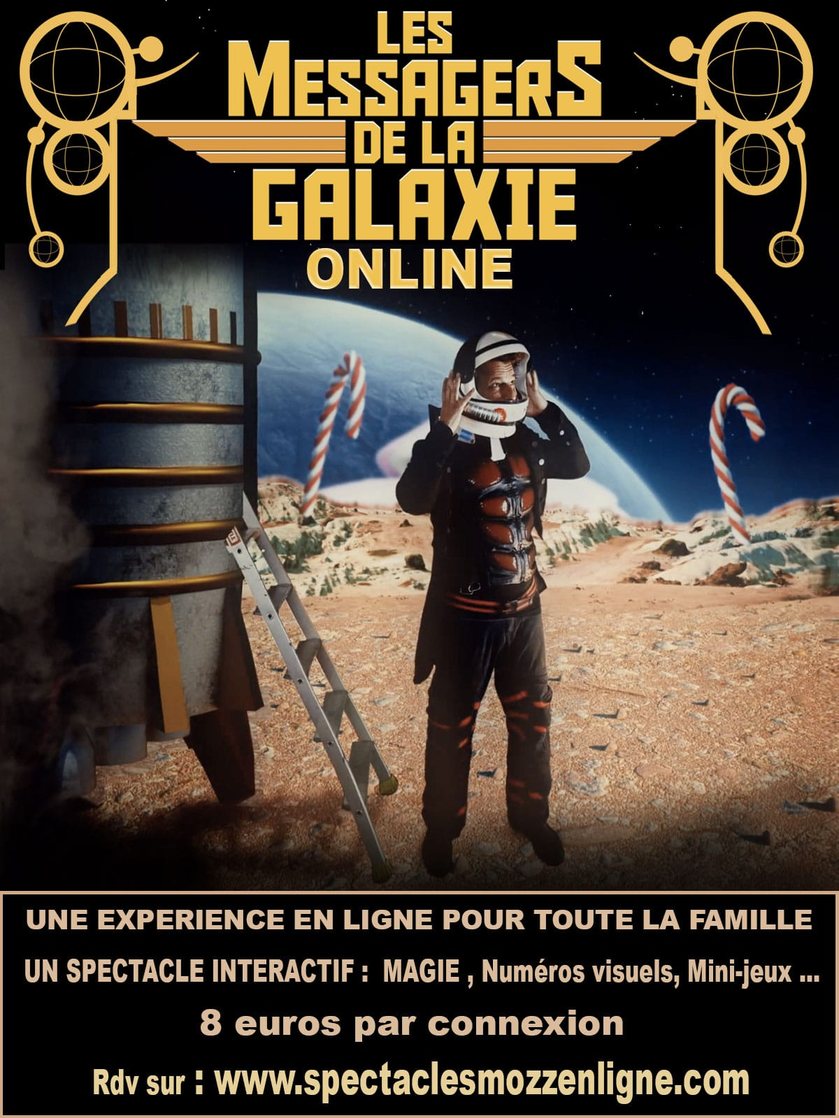 LES MESSAGERS DE LA GALAXIE online affiche spectacle