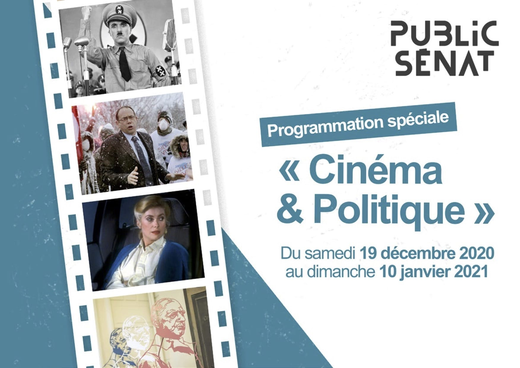 Programmation Cinéma & Politique sur Public Sénat 2020-2021 visuel