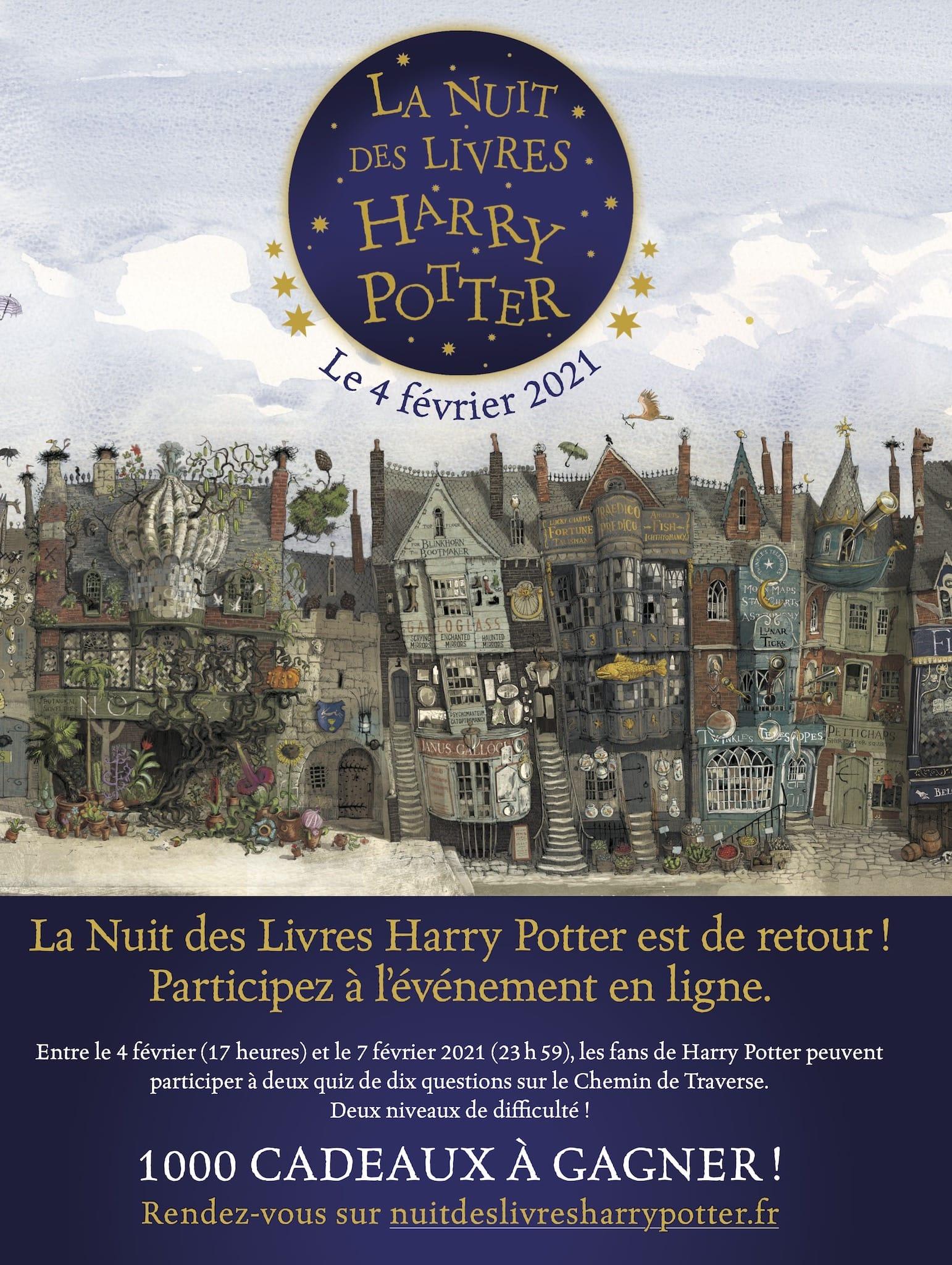 La Nuit des Livres Harry Potter 2021 affiche