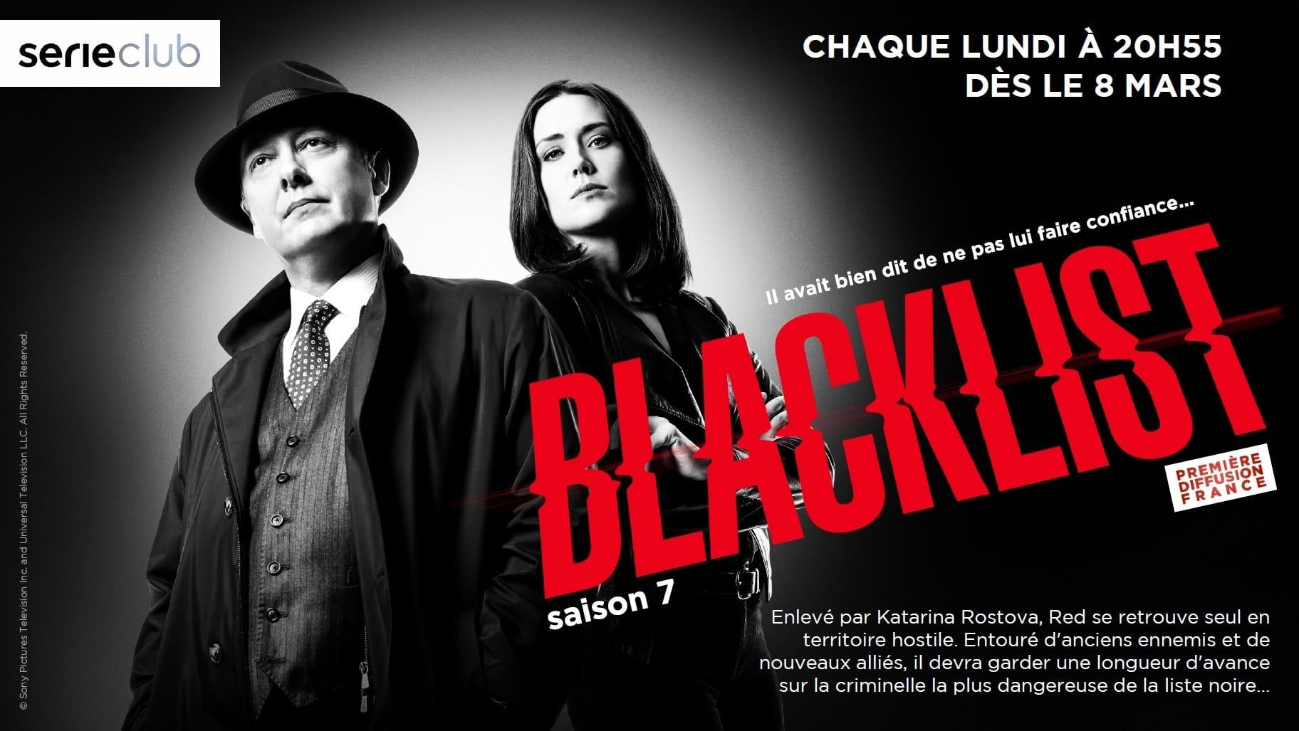 Blacklist saison 7 affiche Serieclub série télé