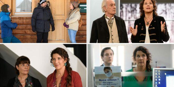Crimes parfaits épisodes Comme un froid entre nous, Au théâtre ce soir, C'est la taille qui compte et Un mort peut en cacher un autre images série télé