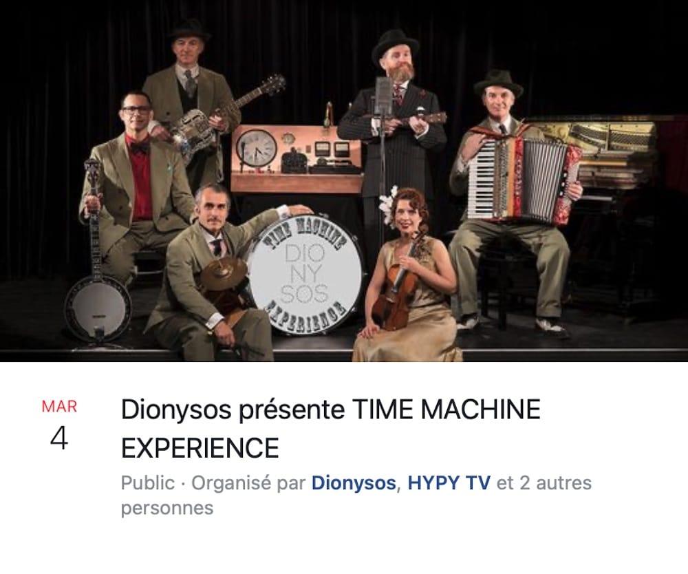 """Dionysos """"Time Machine Experience"""" - Les Trois Baudets visuel musique"""