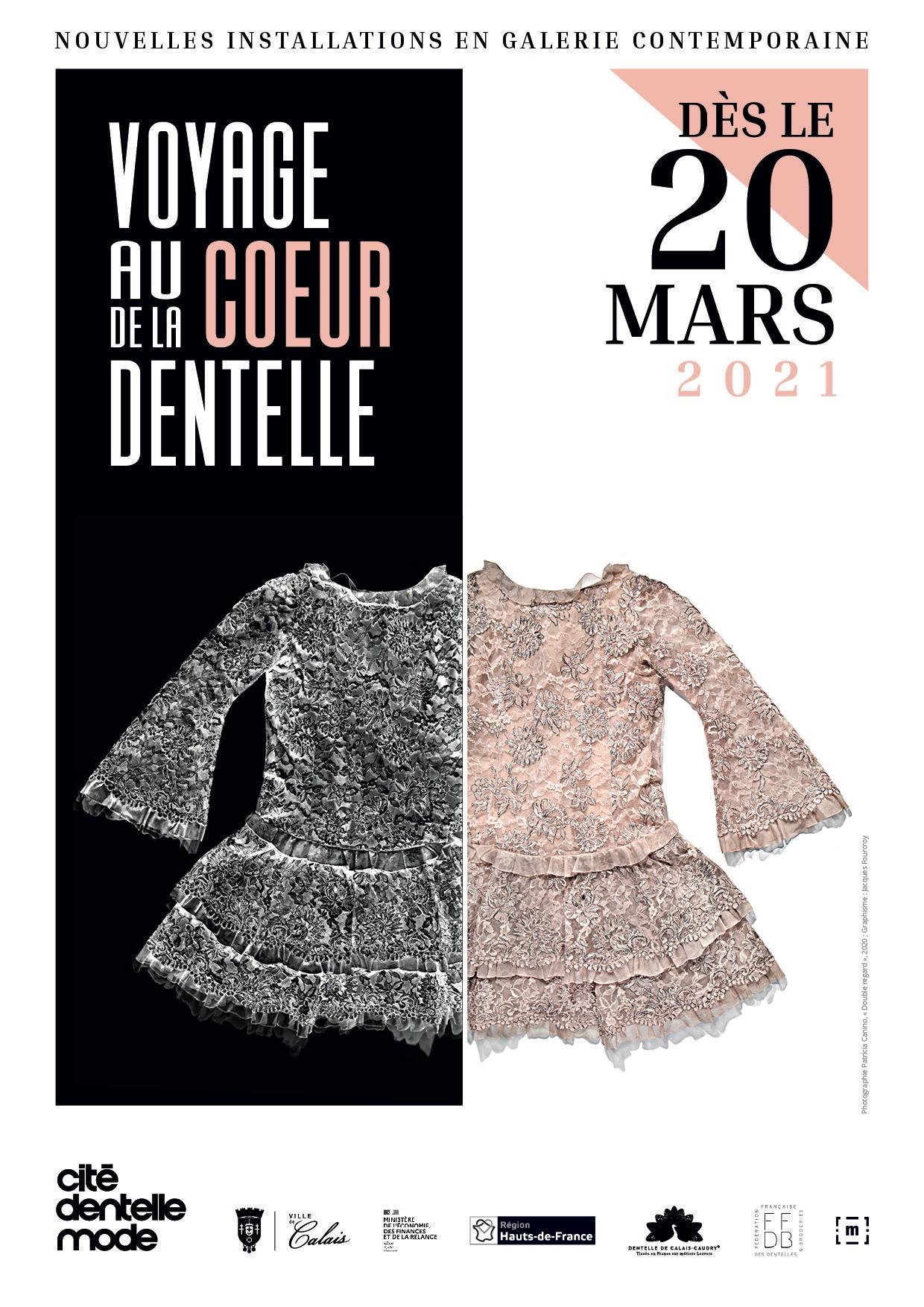 Exposition Voyage au cœur de la dentelle photo Affiche La Cité de la dentelle et de la mode à Calais