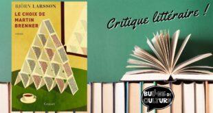 Le choix de Martin Brenner critique avis livre