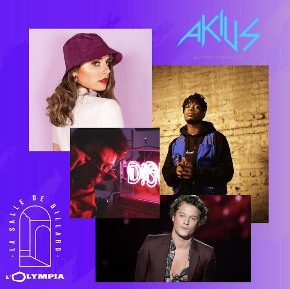 LIVESTREAM à l'OLYMPIA Akius : EMMA HOET / SIDOINE / ALVIN CHRIS / BOMEL musique