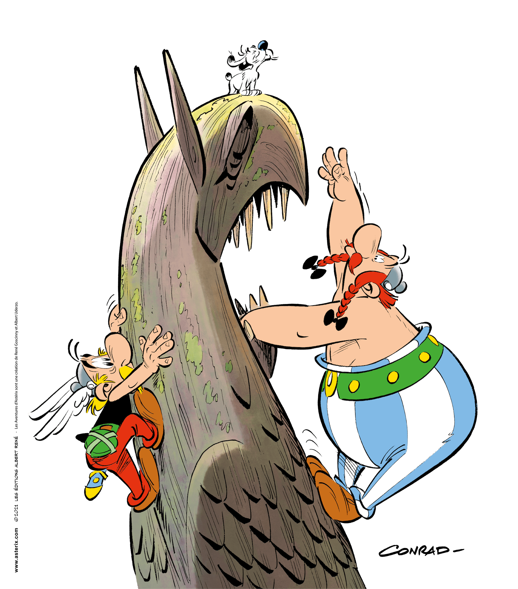 Asterix and the Griffin - Key Visual comic book
