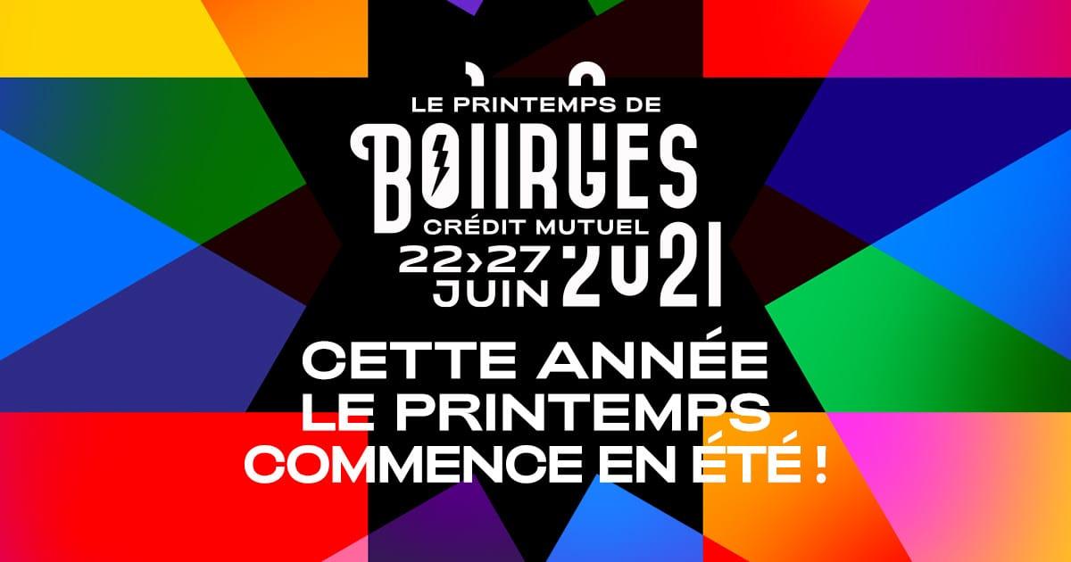 Le Printemps de Bourges 2021 affiche