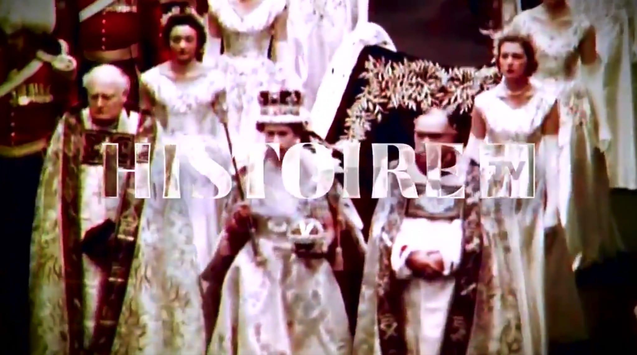 Élisabeth II (2017) capture d'écran twitter histoire tv image série documentaire