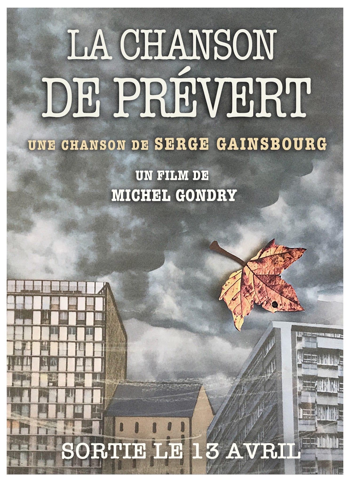 La Chanson de Prévert de Serge Gainsbourg par Michel Gondry affiche musique clip