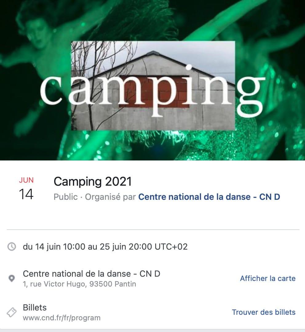 Capture d'écran Camping 2021 festival et platforme